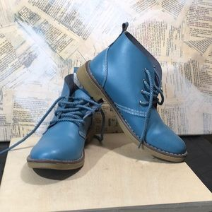 Shoes - Teal Leather Boots
